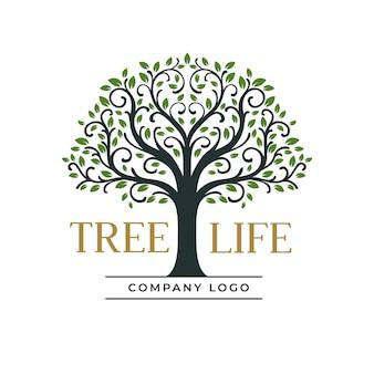 Modello di logo della società di vita dell'albero