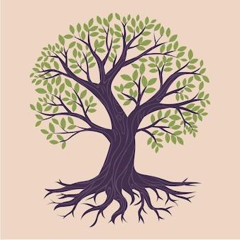 Illustrazione disegnata a mano di vita dell'albero