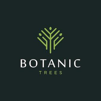 Concetto di design del logo albero. logo albero universale.