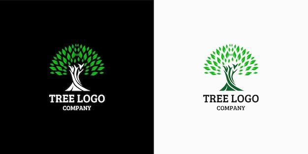 Modello dell'icona di disegno del logo dell'albero