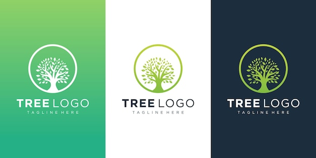 Modello di logo dell'albero
