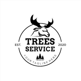 Idea del modello di progettazione del logo del servizio dell'albero