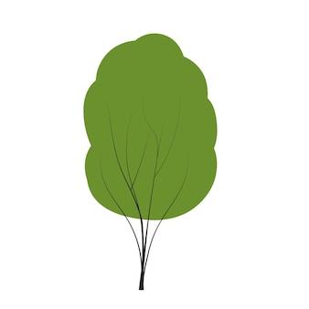 Albero impostato su scarabocchi vettore qualsiasi stagione inverno primavera estate autunno stile piatto