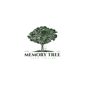 Logo albero e altalena