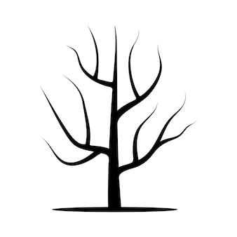 Albero senza foglie. illustrazione vettoriale isolato su sfondo bianco