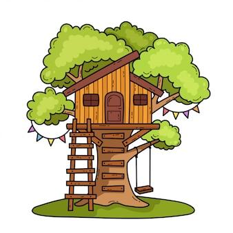 Illustrazione della casa sull'albero