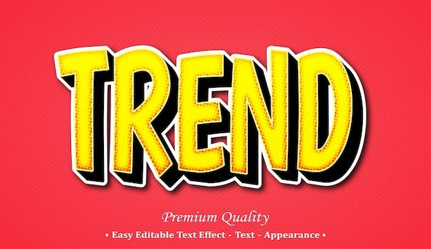 Effetto stile testo modificabile 3d di tendenza