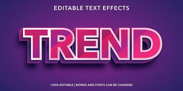 Effetto testo modificabile di tendenza