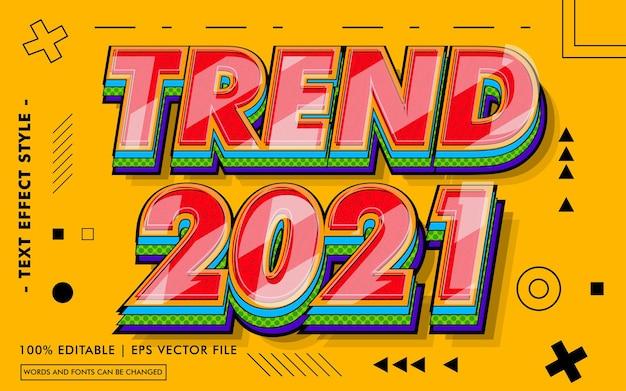 Trend testo effetti stile