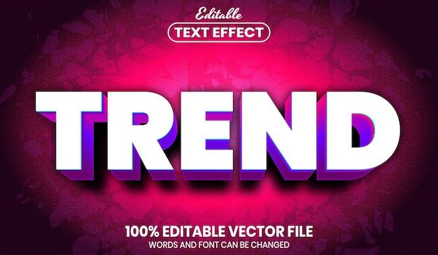 Testo di tendenza, effetto testo modificabile in stile carattere font