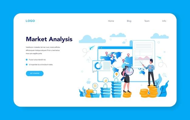Banner web o pagina di destinazione di trendwatcher. specialista nel monitoraggio