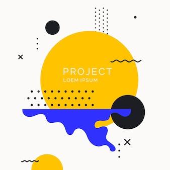 Sfondo geometrico di arte astratta alla moda con poster vettoriale piatto in stile minimalista