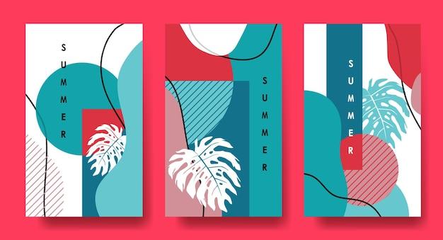 Arte astratta alla moda banner poster layout estivo