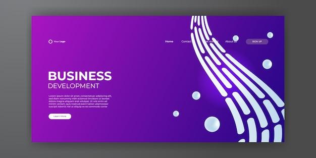 Sfondo astratto alla moda per il design della tua pagina di destinazione. modello di disegno astratto alla moda. gradiente dinamico per landing page, copertine, brochure, volantini, presentazioni, banner. illustrazione vettoriale.