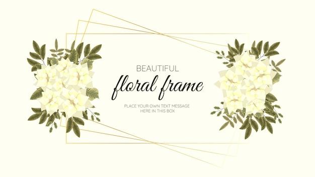 Banner modello di arte floreale astratta alla moda, poster con fiori