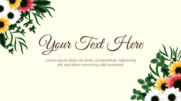 Modello di arte floreale astratta alla moda con fiori foglie viti elemento natura per banner web