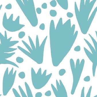 Modello senza cuciture di forma floreale astratta alla moda. forme colorate naturali moderne o foglie tropicali. concept design contemporaneo tessuto tessile su sfondo bianco