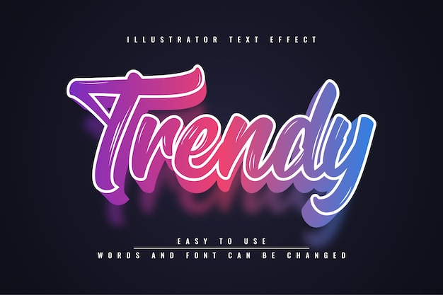 Trendy - effetto di testo modificabile