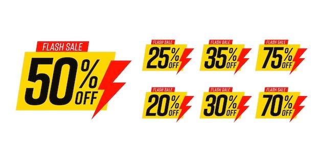 Set di valori di gioco diverso per l'etichetta gialla alla moda di vendita flash