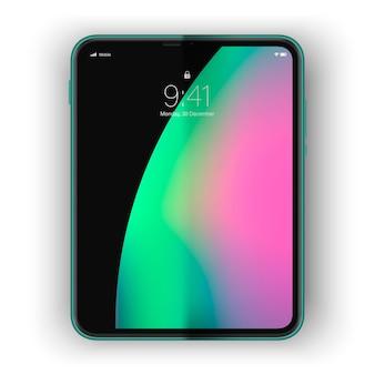 Concetto di dispositivo futuro telefono flessibile alla moda con schermo curvo