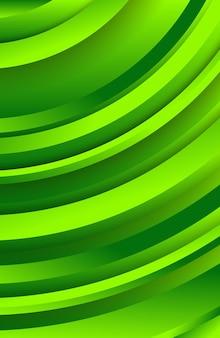 Sfondo verde geometrico alla moda con forme di cerchi astratti. progettazione di banner di storie. modello dinamico futuristico. illustrazione vettoriale