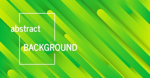 Sfondo verde geometrico alla moda con linee astratte. disegno della bandiera. modello dinamico futuristico. illustrazione vettoriale