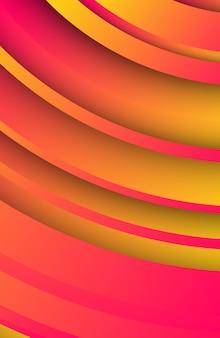 Sfondo arancione geometrico alla moda con forme di cerchi astratti. progettazione di banner di storie. design futuristico del modello dinamico. illustrazione vettoriale