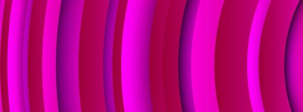 Sfondo viola geometrico alla moda con forme di cerchi astratti. disegno della bandiera. design futuristico del modello dinamico. illustrazione vettoriale