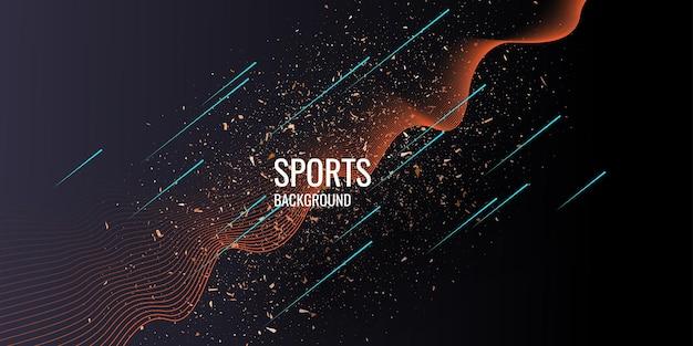 Poster alla moda per lo sport su sfondo scuro. illustrazione vettoriale