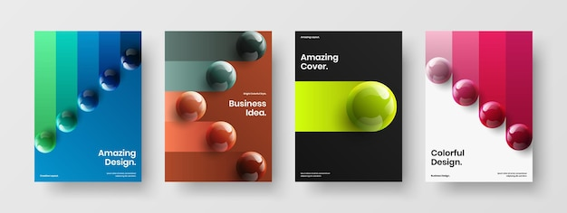 Composizione di concetto di copertina di una rivista di palle realistiche alla moda