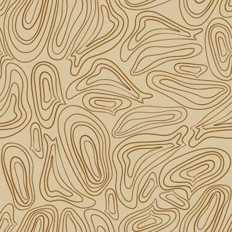 Modello safari senza cuciture alla moda nei toni naturali del verde e del marrone forme astratte disegnate a mano