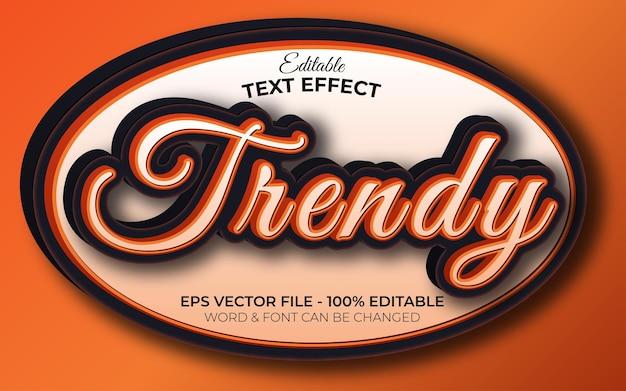 Stile effetto testo alla moda tema arancione effetto testo modificabile