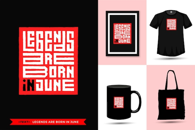 Trendy typography quote motivation tshirt legends are born in january for print. modello di tipografia verticale per merce