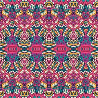 Carta da parati vettoriale alla moda tessuto vintage decorazione festiva messicana vettoriale