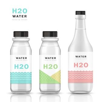 Modello di bottiglia d'acqua alla moda
