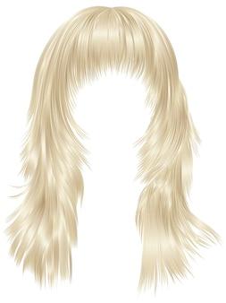Capelli alla moda della donna isolati su bianco