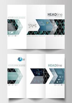 Modelli di business brochure ripiegabili. realta virtuale