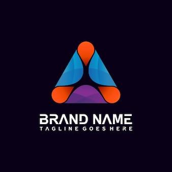 Disegno del logo astratto triangolo