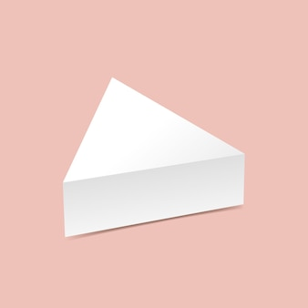 Scatola triangolare mock up