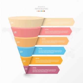 Modello di infografica grafico triangolo