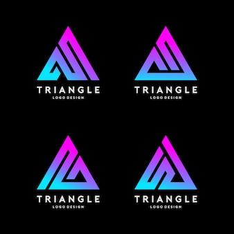 Linea di triangolo logo design vector illustration