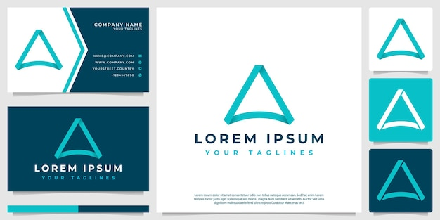 Logo semplice minimalista triangolo