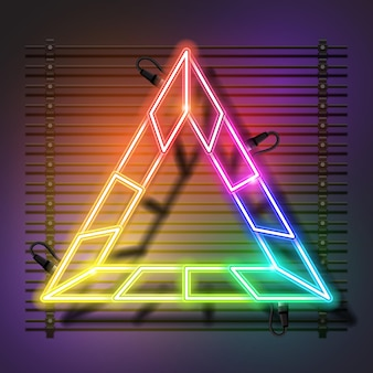 Triangolo neon banner design