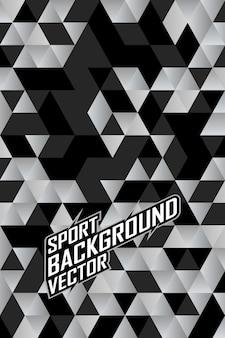 Fondo astratto del modello del triangolo per i giochi di calcio di ciclismo di corse di squadra di jersey