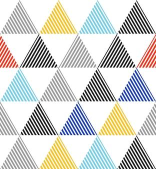 Reticolo del triangolo con struttura del grunge, semplice sfondo geometrico. illustrazione di stile elegante e di lusso