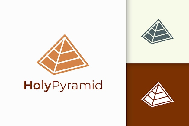Logo piramidale triangolare in forma semplice e moderna adatta per azienda tecnologica