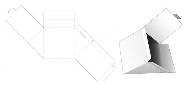 Modello fustellato scatola da imballaggio a forma di triangolo