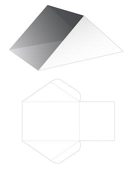 Modello fustellato vassoio triangolare in cartone