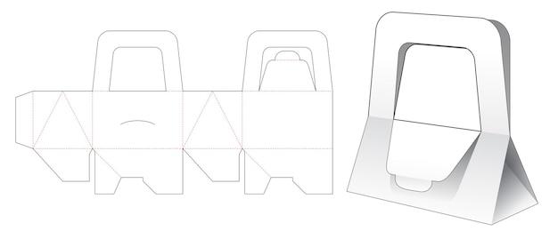Modello fustellato per borsa con manico triangolare