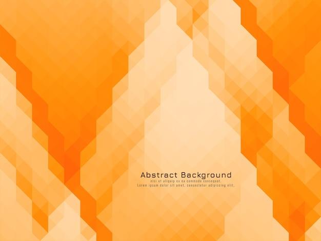 Sfondo di colore giallo arancione geometrico con motivo a mosaico triangolare